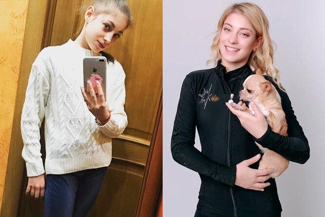 Алена Косторная в детстве и сейчас