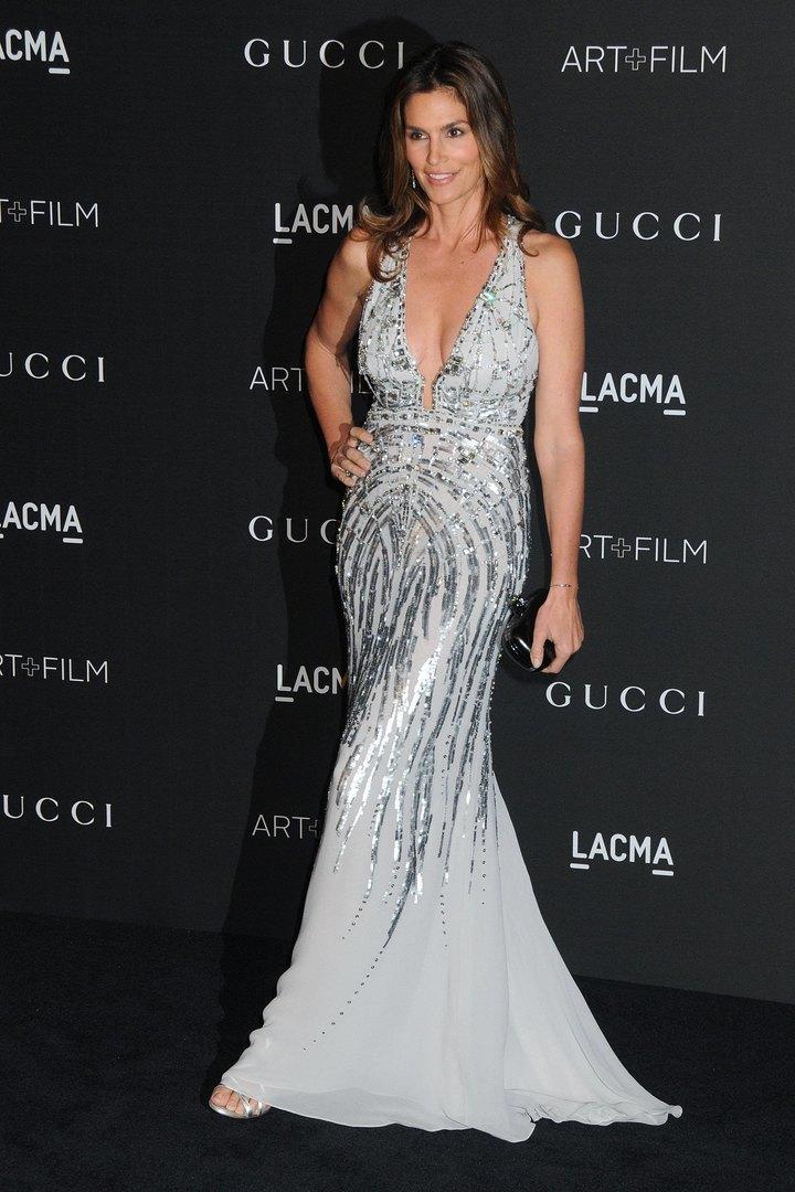 Синди Кроуфорд навечере LACMA вЛос-Анджелесе, 2014 год