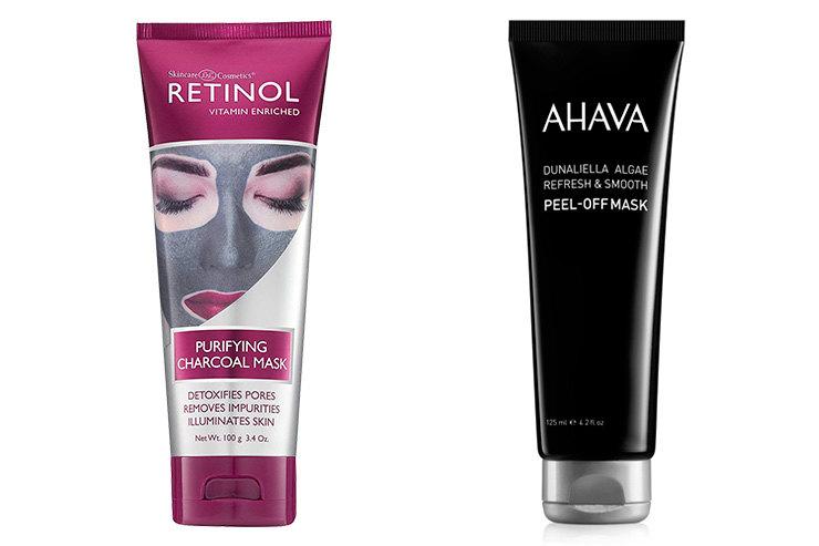 Skincare Cosmetics Retinol Purifying Charcoal Mask \ Ahava Dunaliella Algae Peel-Off Mask