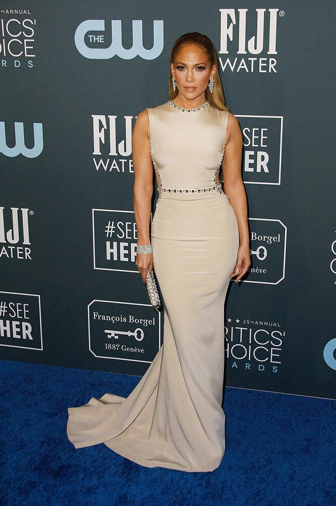 Дженнифер Лопес наAnnual Critics Choice Awards в 2020 году