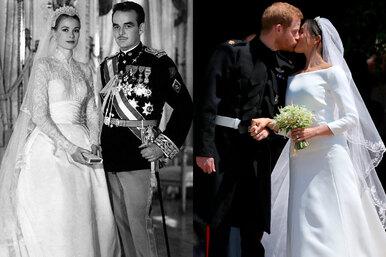 Свадьба как всказке: вкаких нарядах выходят замуж принцессы идругие монаршие особы