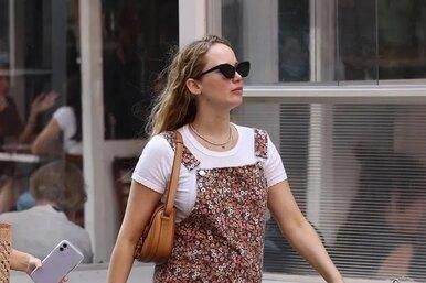 Беременная Дженнифер Лоуренс подчеркнула новые формы облегающим нарядом