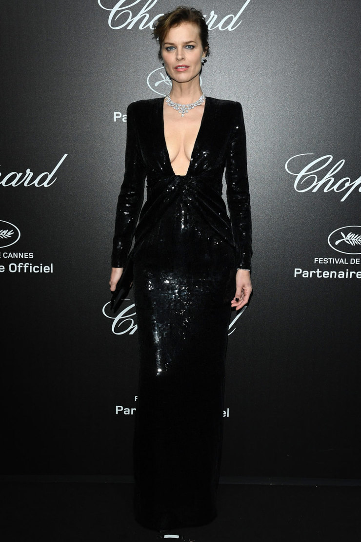 Ева Герцигова в Saint Laurent на вечере Chopard Love Night