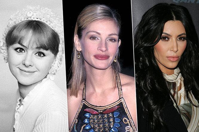 Наталья Селезнева (1975) / Джулия Робертс (1998) / Ким Кардашьян (2011)