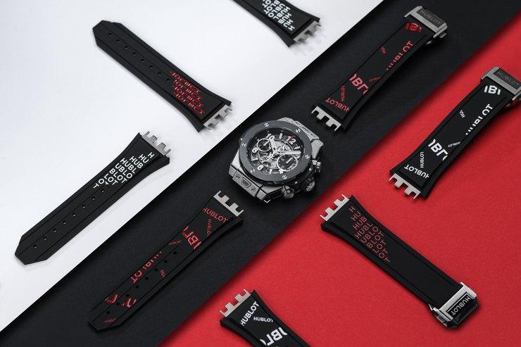 Один клик: Hublot представляет стильные часы сголографическим ремешком