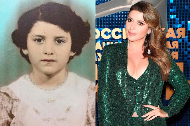 Жасмин в детстве и сейчас