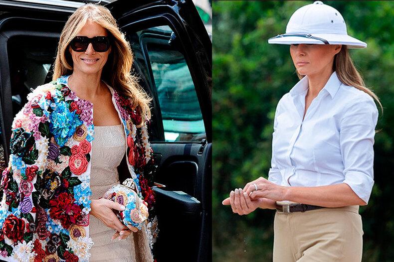 Неидеальная Мелания: 5 самых неудачных нарядов миссис Трамп