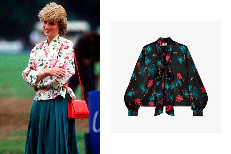 Блуза из80-х: наследие принцессы Дианы внаших гардеробах