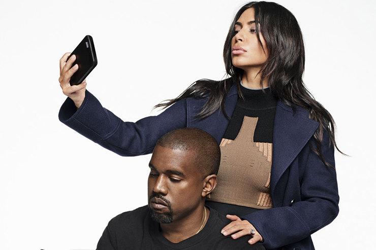 Ким Кардашьян иКанье Уэст всъемке дляHarpers Bazaar