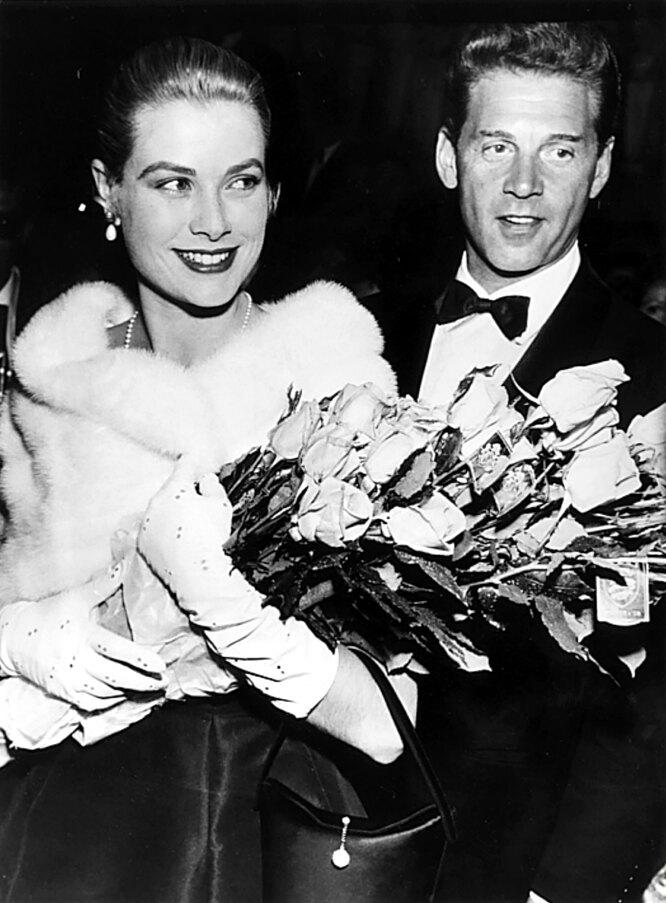 1955 г. Грейс Келли и Жан-Пьер Омон