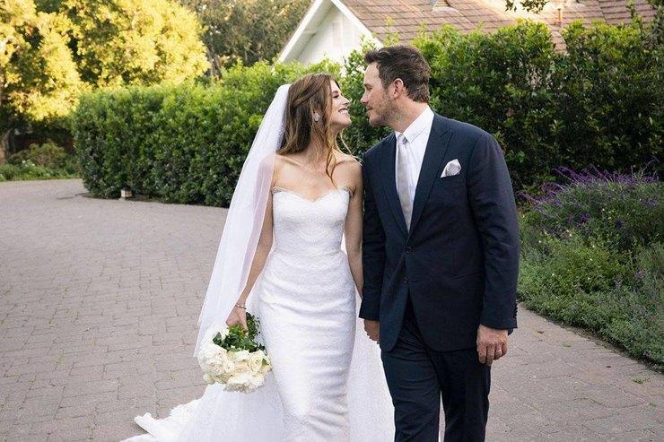 Джорджио Армани создал свадебные ансамбли дляКэтрин Шварценеггер иКриса Пратта