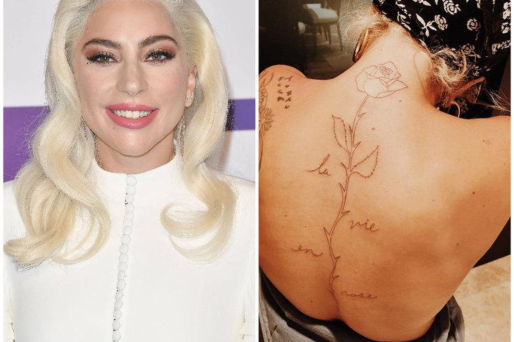 Леди Гага сделала татуировку наспине вчесть фильма «Звезда родилаcь»