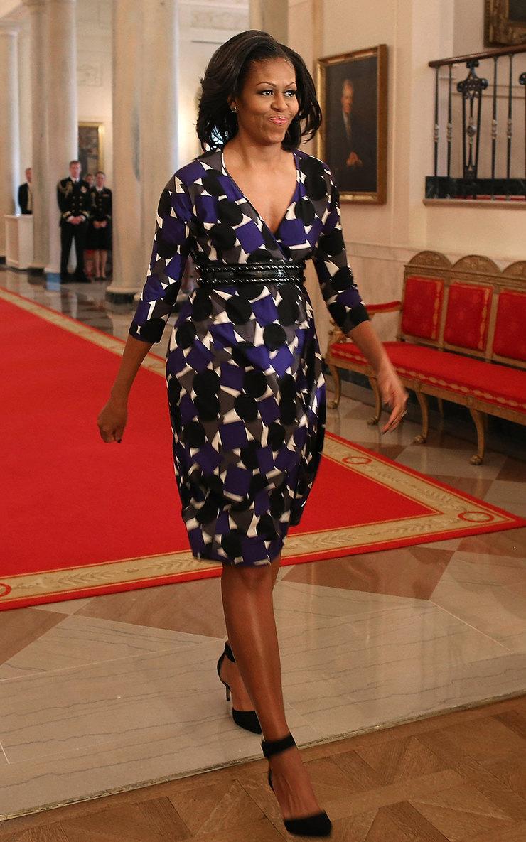 Мишель Обама вбосоножках Zara