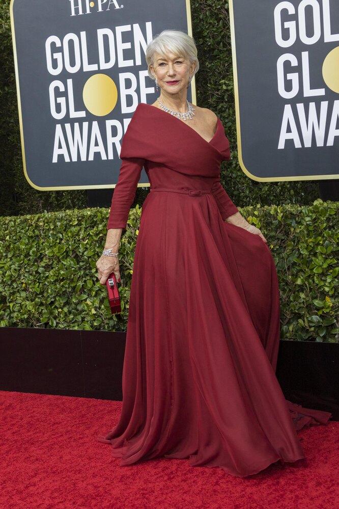 Хелен Миррен на церемонии вручения премии «Золотой глобус», 2020