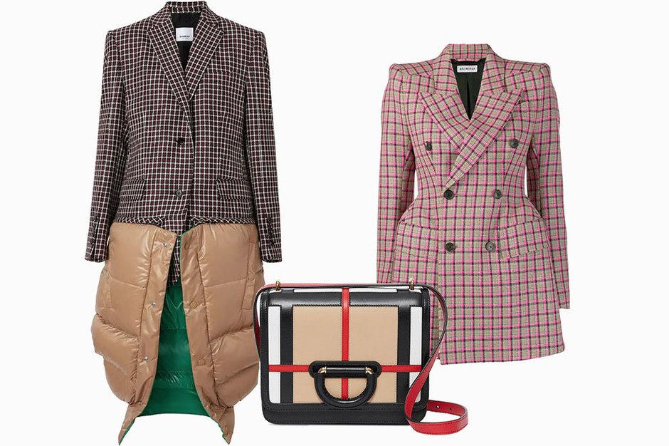 Пальто Burberry, сумка Burberry, жакет Balenciaga