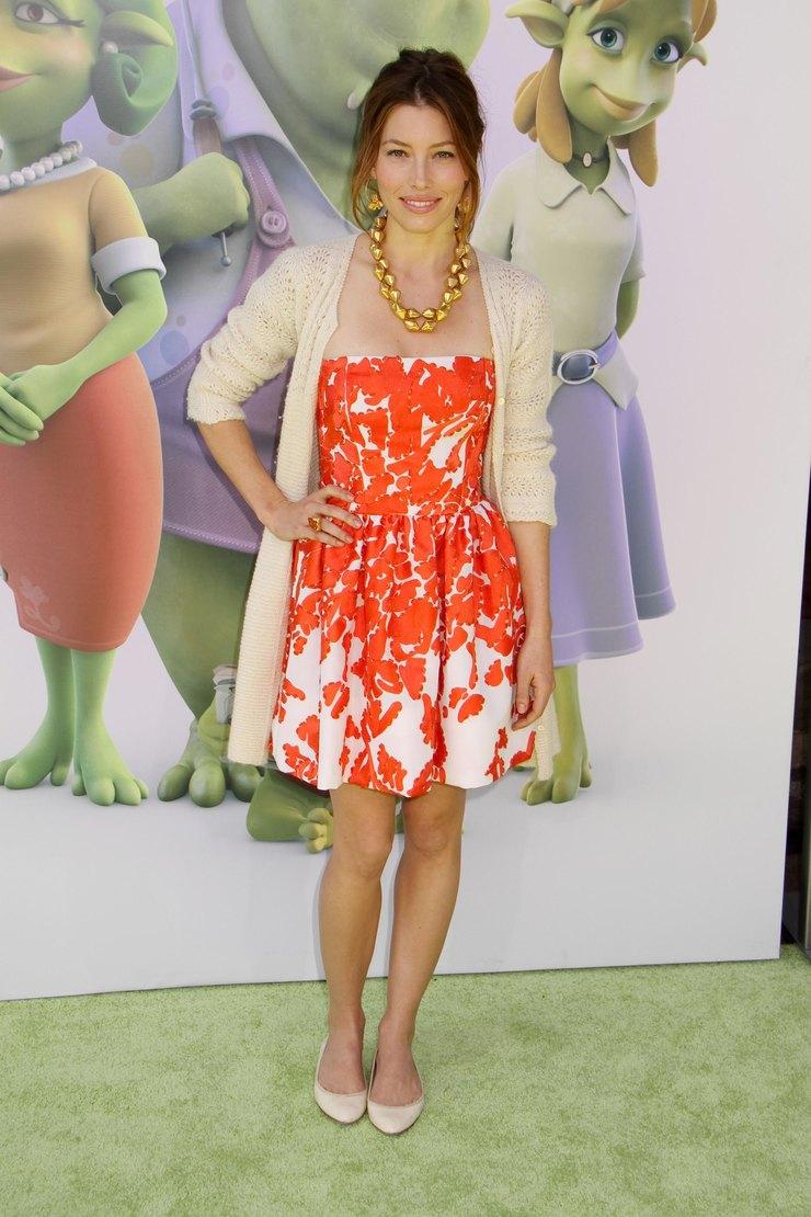 Джессика Бил напремьере фильма «Окись» 2009 год