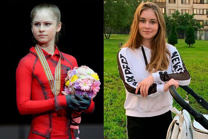Юлия Липницкая в детстве и сейчас
