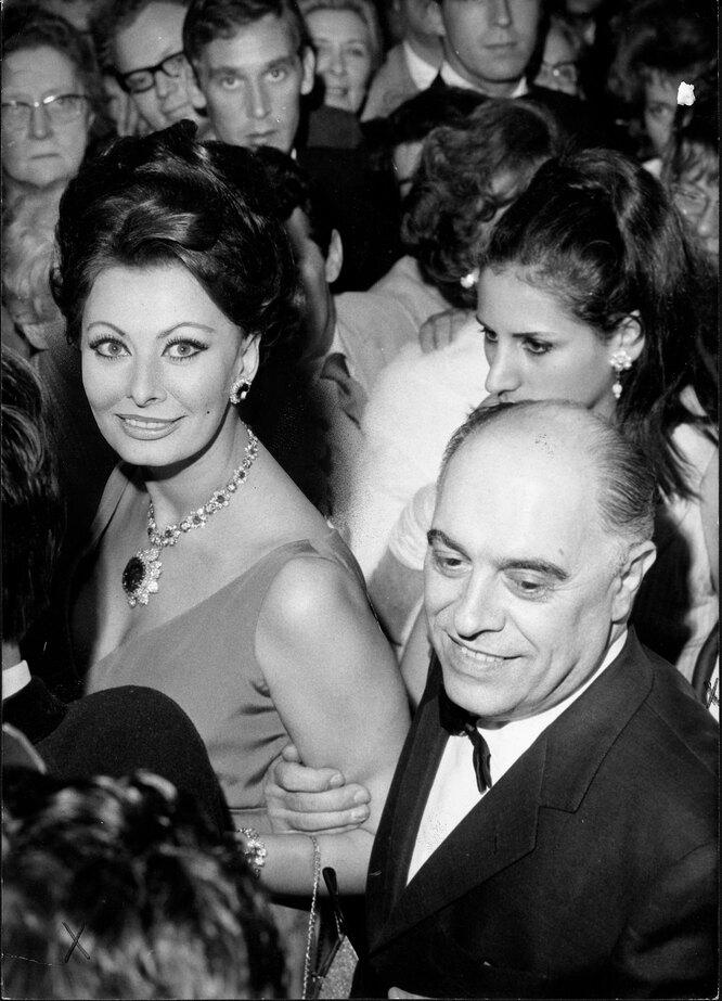 1966 г. Софи Лорен и Карло Понти