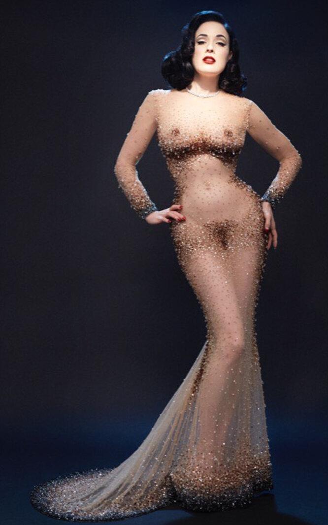 """Дита фон Тиз в """"голом"""" платье"""