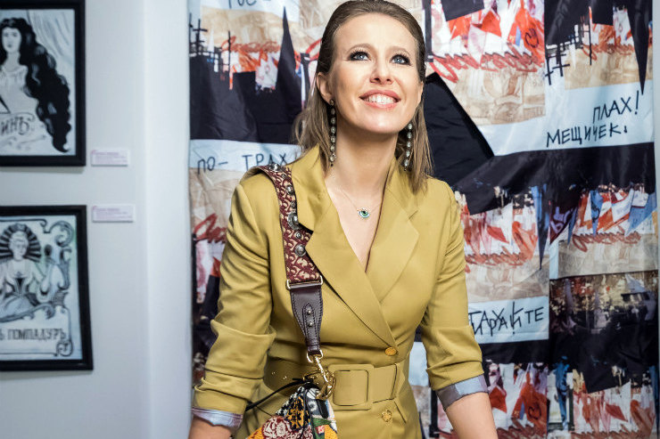 Ксения Собчак идругие звезды наоткрытии выставки ГУМ-Red-Line