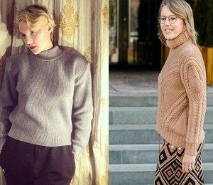 От Литвиновой до Собчак: какие свитеры российские звезды выбирают на зиму