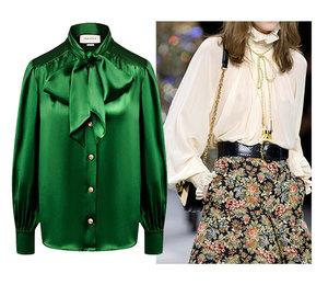 Прозрачные, шелковые, мерцающие: самые модные женские блузки 2020