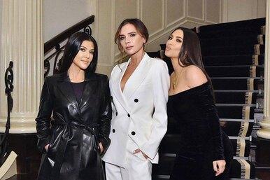 Виктория Бекхэм исестры Кардашьян посоревновались всексуальности нарядов
