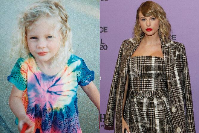 Тейлор Свифт в детстве и сейчас