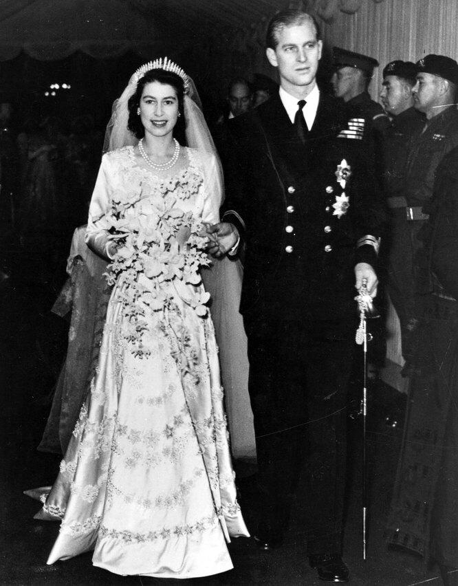 Свадьба королевы Елизавета II и принца Филиппа, 1957