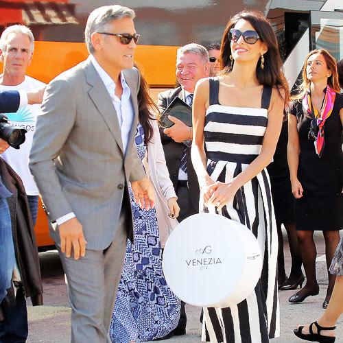 Амаль Аламуддин иДжордж Клуни насвадьбе вВенеции