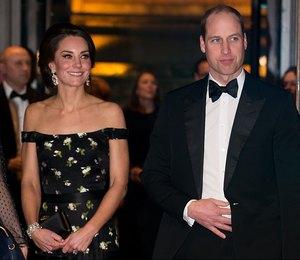 Кейт Миддлтон и принц Уильям стали гостями премии BAFTA-2017