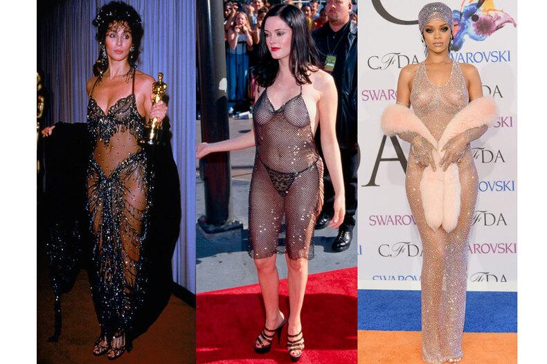 6 самых скандальных «голых» платьев звезд, навсегда вошедших висторию