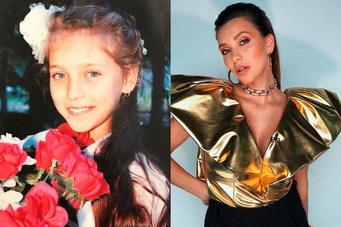 Регина Тодоренко в детстве и сейчас