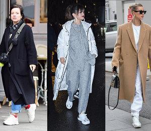 6 доказательств от самых модных звезд, что  белые кроссовки можно (и нужно!) носить с зимней одеждой