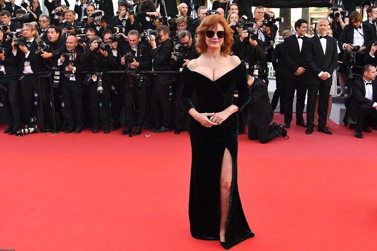 Сьюзан Сарандон на70-м Каннском кинофестивале