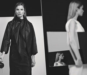 Черная магия: топ-модель Полина Оганичева дает модные уроки в классическом ч/б