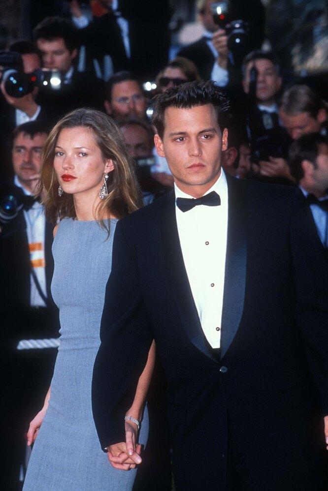 1997 г. Джонни Депп и Кейт Мосс