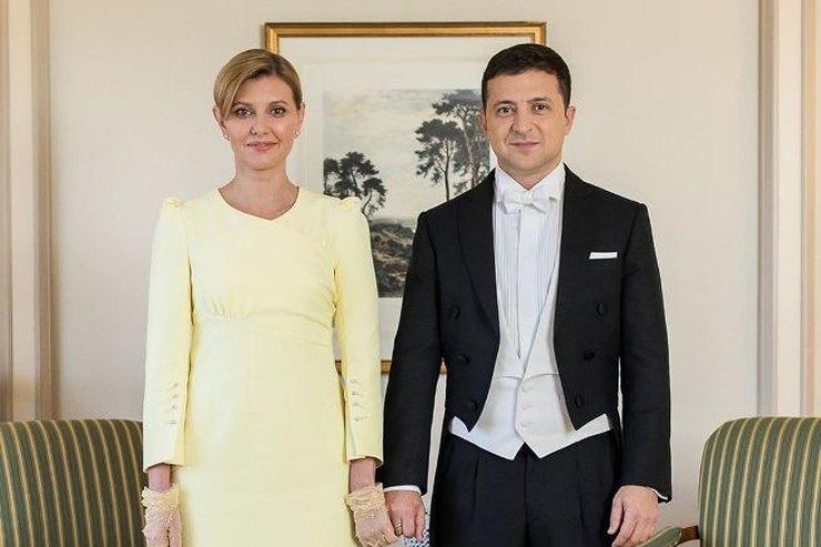 Елена Зеленская вэлегантном желтом платье поздравила нового императора Японии