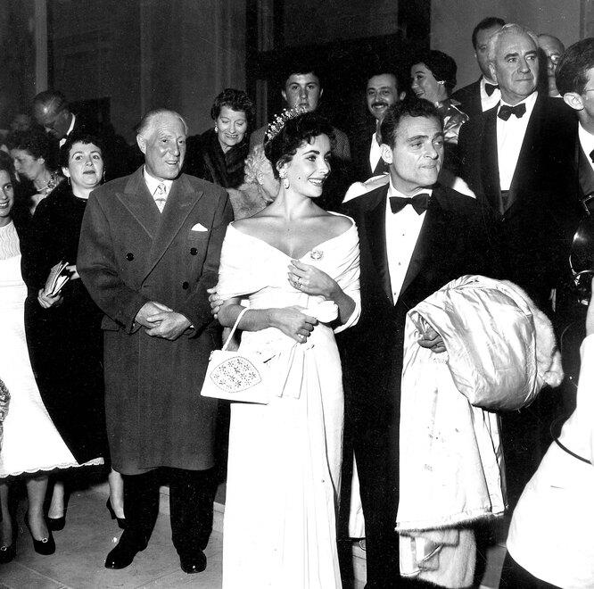 1957 г. Элизабет Тейлор и Майк Тодд