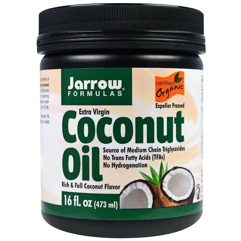 Органическое кокосовое масло Extra Virgin, Jarrow Formulas (цена - около 600 рублей)