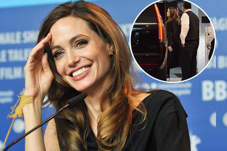 Анджелина Джоли влодочках накаблуках сходила ссыном нашопинг