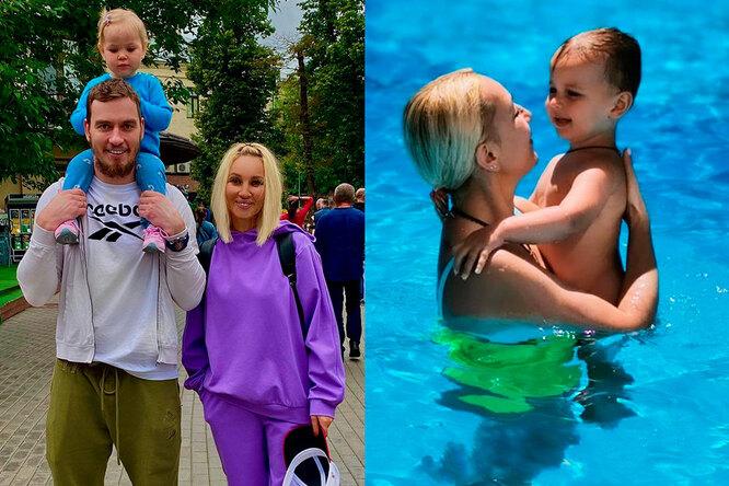 Лера Кудрявцева с мужем и дочкой, Лера Кудрявцева с внуков