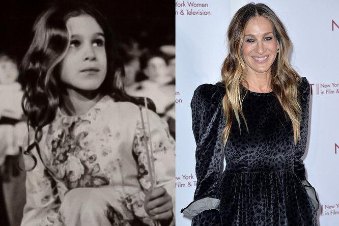 Сара Джессика Паркер в детстве и сейчас