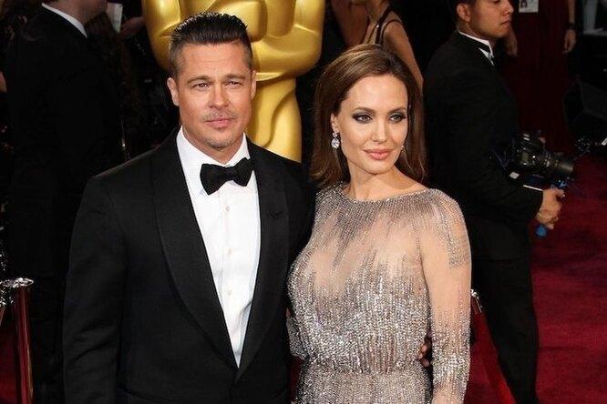 Анджелина Джоли неможет развестись сБрэдом Питтом из-за алкоголя