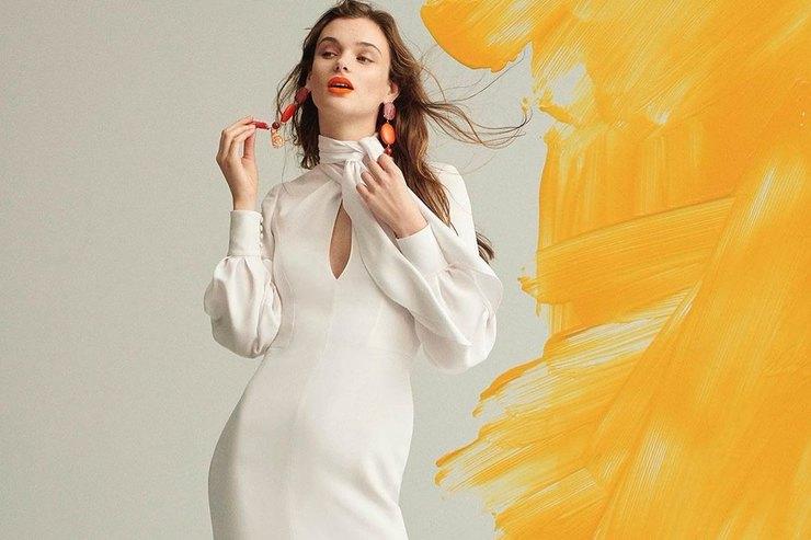 Платье своротником — мастхэв будущего ноября