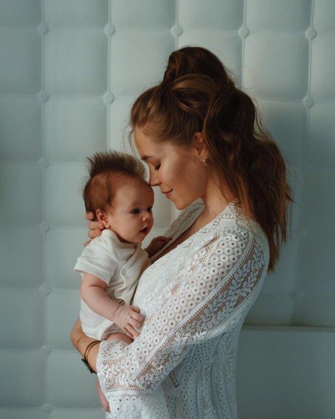 Катрин Климова с сыном