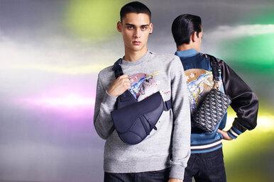 Цветущая сакура иГодзиллы вкапсульной коллекции Dior Men
