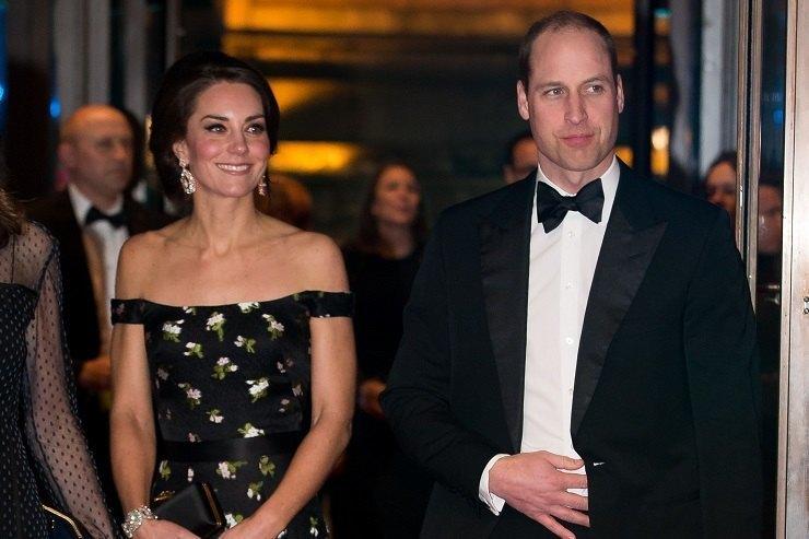 Кейт Миддлтон ипринц Уильям нацеремонии BAFTA-2017