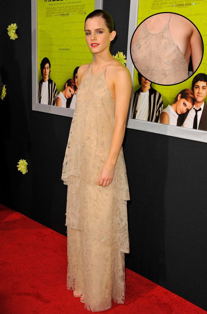 Эмма Уотсон на премьере фильма «Хорошо быть тихоней»,2012