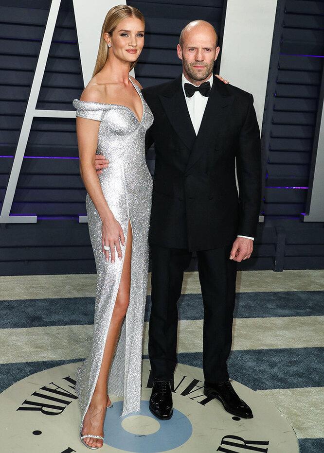 Джейсон Стэйтем и Роузи Хантигтон-Уайтли на вечеринке Vanity Fair в 2019 году